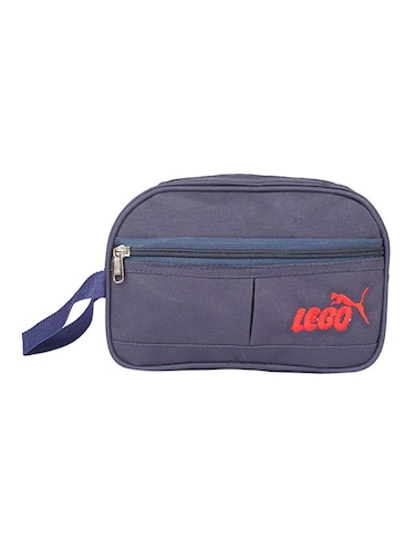 blue leatherette (pu) regular pouch - 15189886 - Standard Image - 1