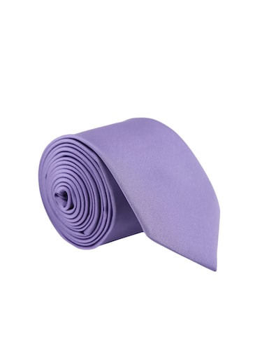 purple satin tie - 15190410 - Standard Image - 1