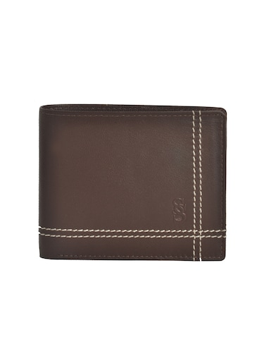 brown leatherette wallet - 15190971 - Standard Image - 1