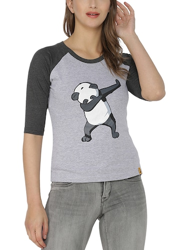 Graphic print round neck tee - 15200587 - Standard Image - 1