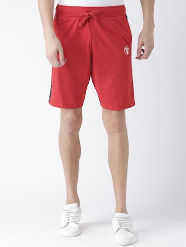 red cotton shorts - 15211475 - Standard Image - 1