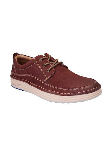 red Nubuck lace up sneaker - 15216928 - Standard Image - 1
