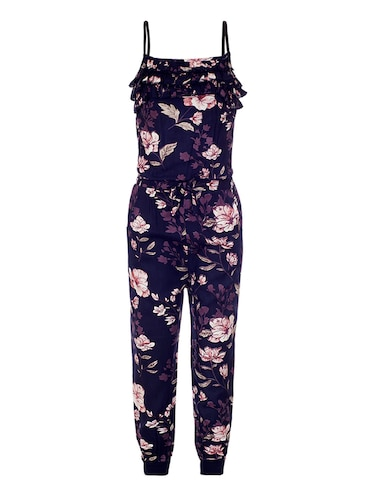 blue rayon full length jumpsuit - 15223908 - Standard Image - 1