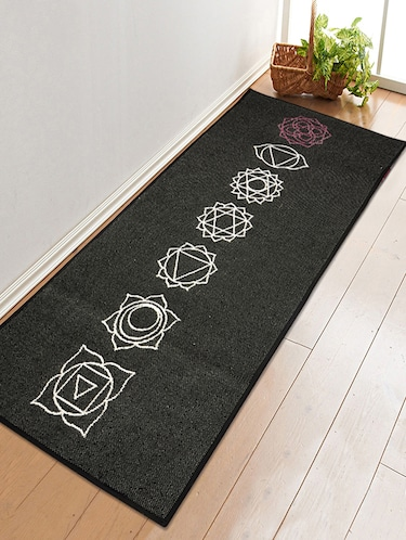Cotton Handloom Made Anti Skid Yoga/Exercise Rugs -70x170 cm - 15235357 - Standard Image - 1