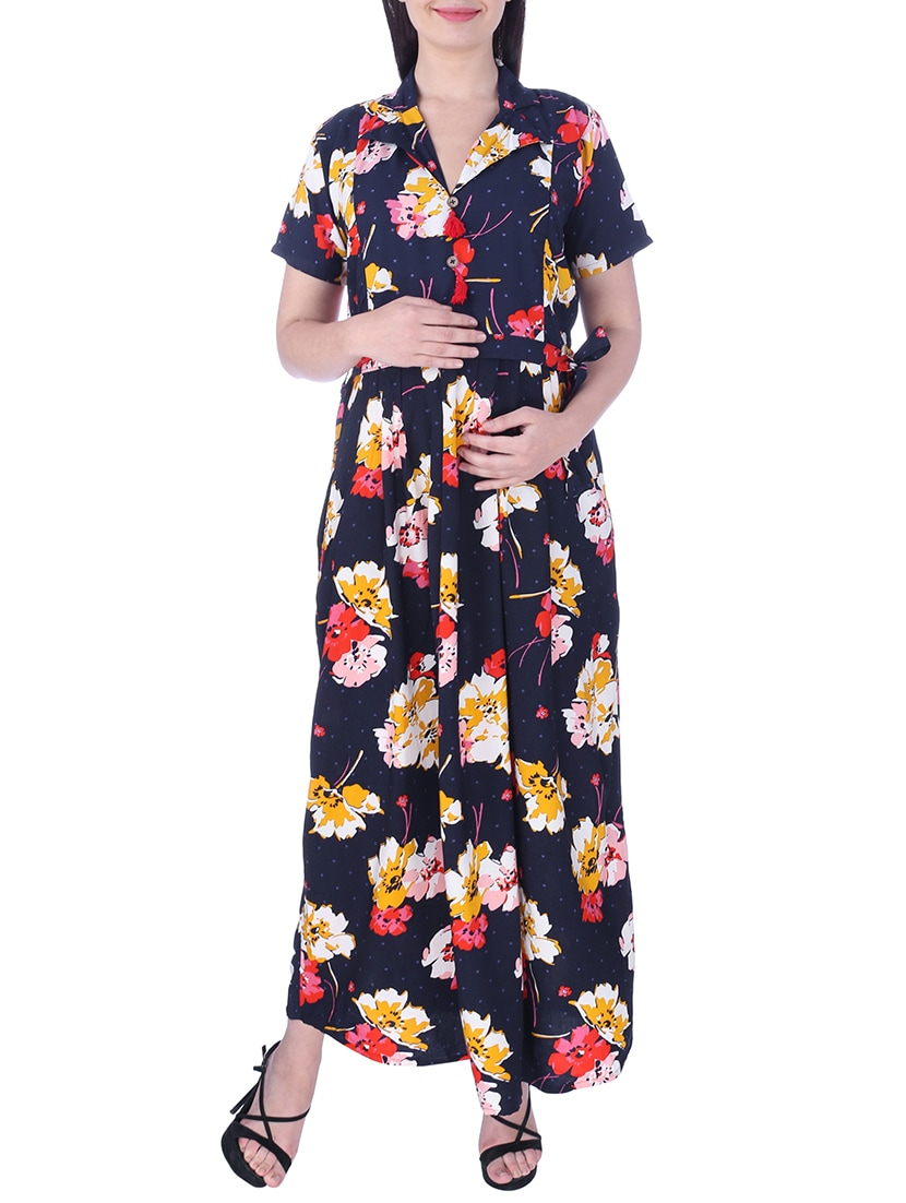 5e10fcc3d330 Buy Floral Maxi Maternity Dress by Momtobe - Online shopping for Maternity  Wear in India