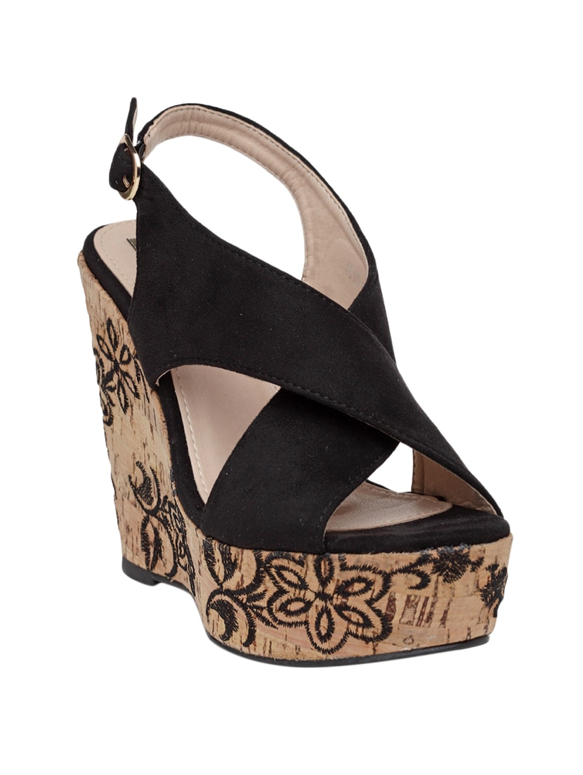 a38404b2cd2 Buy Flat N Heels Black Wedges for Women from Flat N Heels for ₹1850 ...