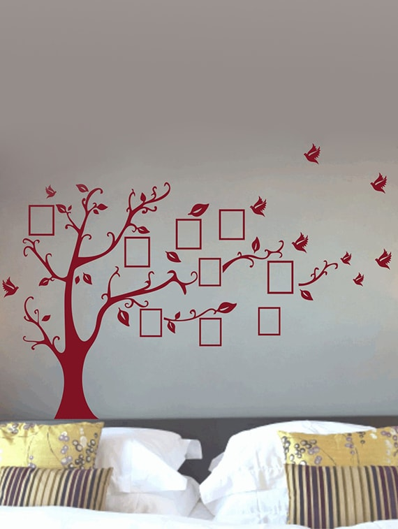 Buy Photo Frame Tree Wall Decal By Decor Kafe Online Shopping For