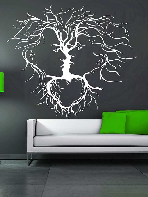 buy couple abstract wall decaldecor kafe - online shopping for