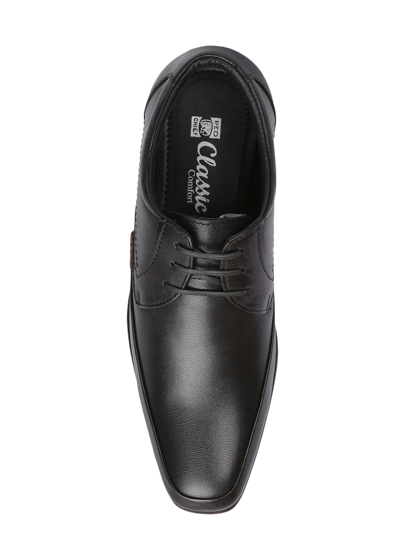 Red Chief Black Formal Derby Shoes