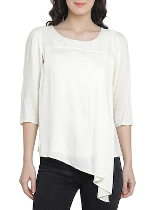 Asymmetric layered top - 15301139 - Standard Image - 1