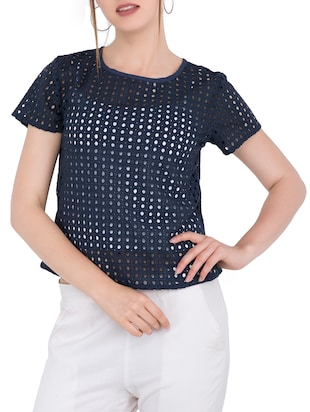 Cut work detail top - 15304815 - Standard Image - 1