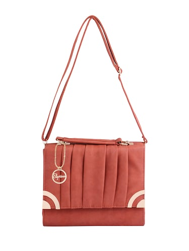 pink leatherette (pu) regular sling bag - 15310955 - Standard Image - 1