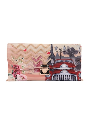multi canvas printed sling bag - 15310967 - Standard Image - 1