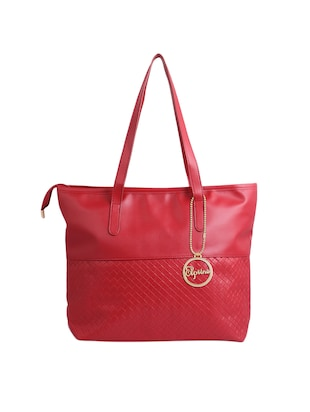 red leatherette (pu) regular tote - 15311110 - Standard Image - 1