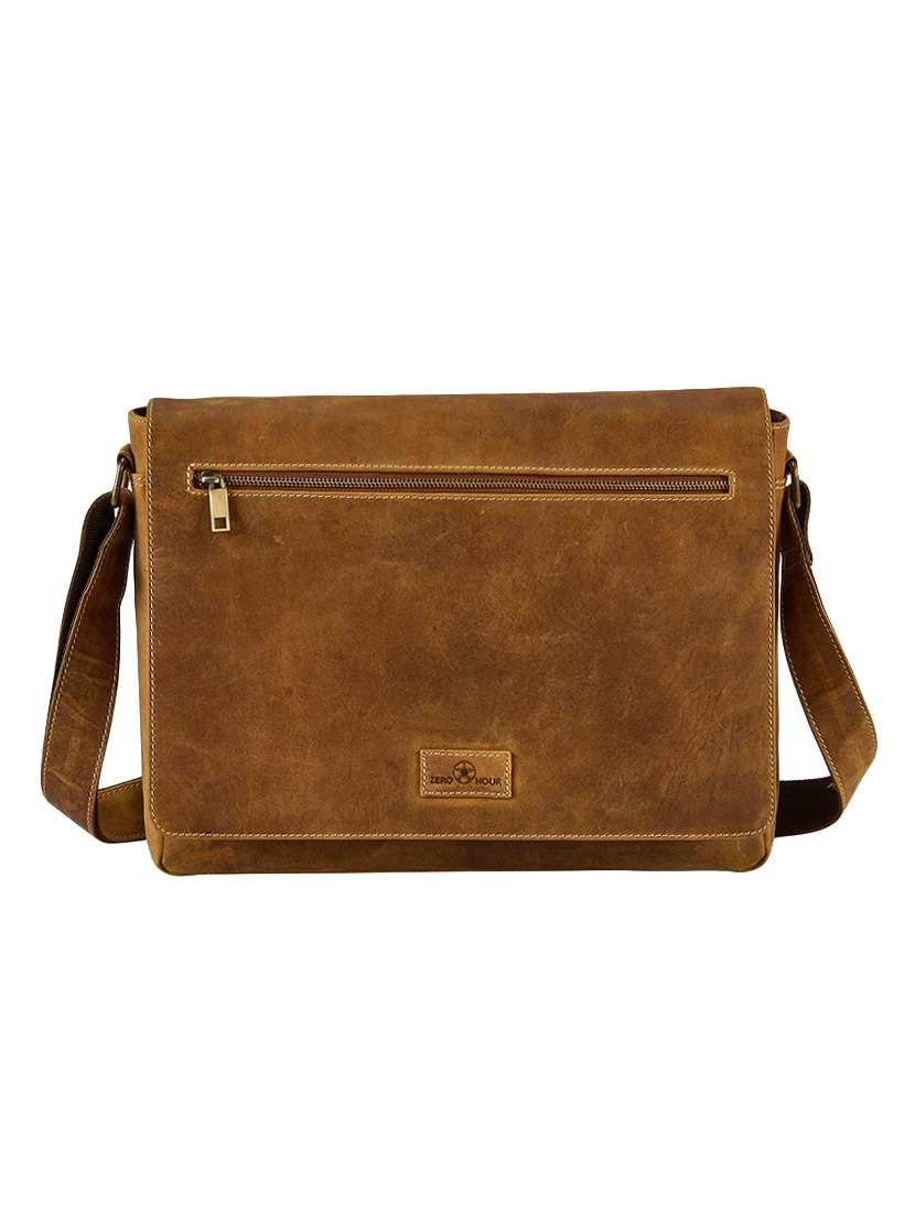 b14c369dc6ea Buy Brown Leather Laptop Bag for Men from Zero Hour for ₹3778 at 73 ...