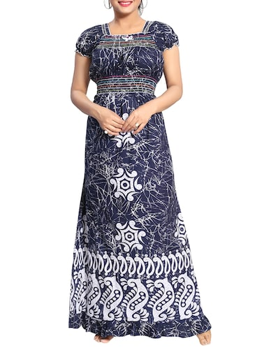 Buy Smocking Detail Printed Nightwear Gown by Cinco - Online ... 2c6c98e8e