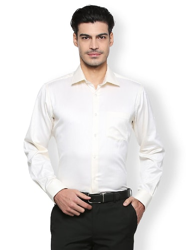 white cotton formal shirt - 15327502 - Standard Image - 1