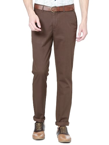 brown cotton chinos - 15328003 - Standard Image - 1
