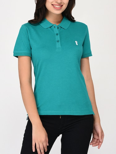 short sleeved polo tee - 15328245 - Standard Image - 1