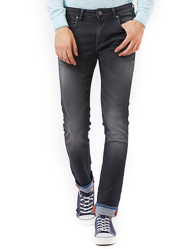 grey cotton washed jeans - 15328564 - Standard Image - 1