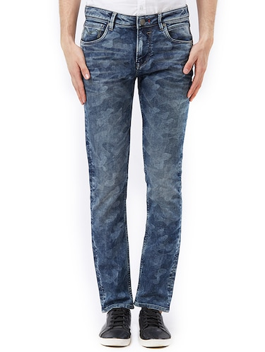blue cotton washed jeans - 15328581 - Standard Image - 1