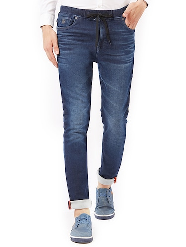 blue cotton washed jeans - 15328590 - Standard Image - 1