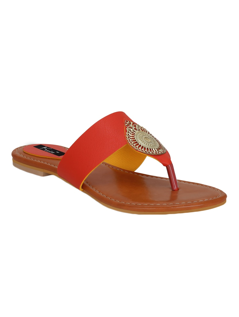8c5df100ec1a6d Buy Red Toe Separator Sandal by Kielz - Online shopping for Sandals in  India
