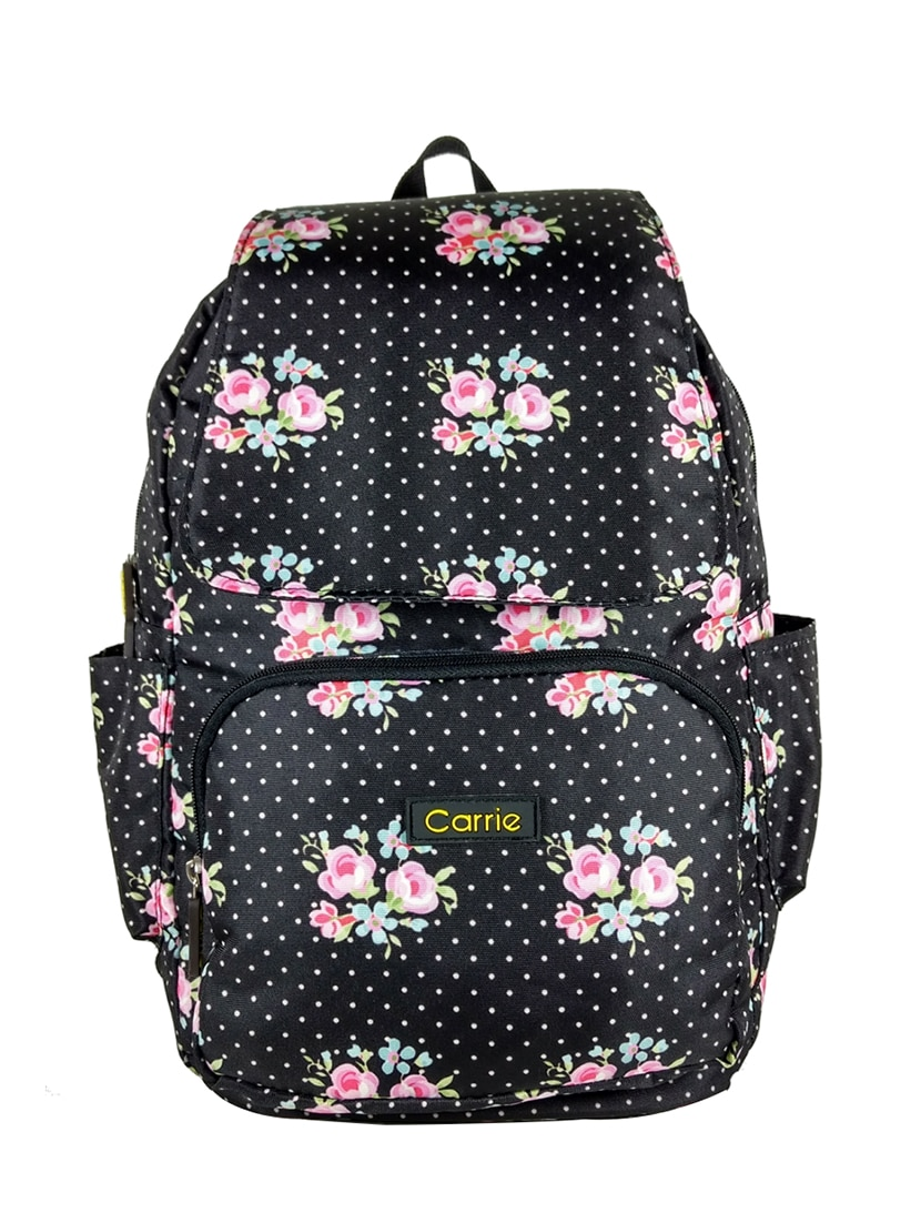 1298fde7b4268 Buy Black Polyester Fashion Backpack for Women from Carrie for ...