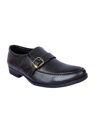 black Faux Leather slip ons - 15336138 - Standard Image - 1