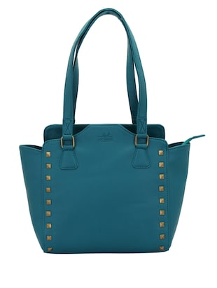 blue leatherette (pu) regular handbag - 15338916 - Standard Image - 1