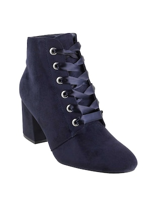 navy ankle  boot - 15339387 - Standard Image - 1