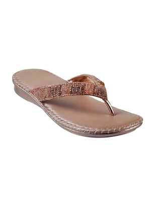 brown leather toe separator sandals - 15339447 - Standard Image - 1