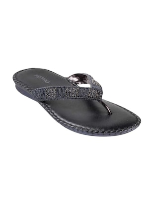 grey leather toe separator sandals - 15339449 - Standard Image - 1