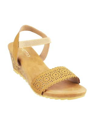yellow back strap wedges - 15339715 - Standard Image - 1