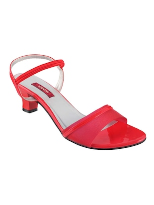 red leatherette ankle strap sandals - 15339784 - Standard Image - 1