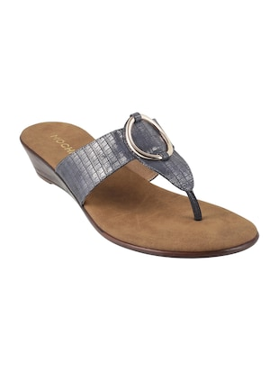 grey faux leather toe separator sandals - 15339849 - Standard Image - 1