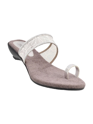 silver one toe sandals - 15339895 - Standard Image - 1