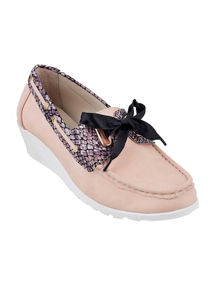 pink slip on loafers - 15340052 - Standard Image - 1