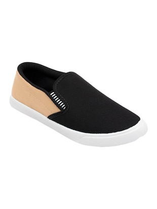 black Canvas casual slip on - 15340087 - Standard Image - 1