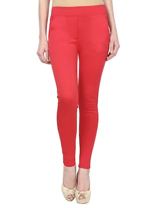 mid rise ankle length jeggings - 15341027 - Standard Image - 1