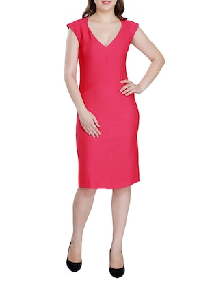 Solid sheath dress - 15341889 - Standard Image - 1