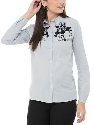 Embroidered yoke shirt - 15341972 - Standard Image - 1