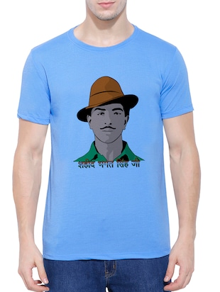 blue cotton blend character t-shirt - 15342239 - Standard Image - 1
