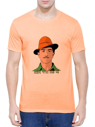 orange cotton blend character t-shirt - 15342242 - Standard Image - 1
