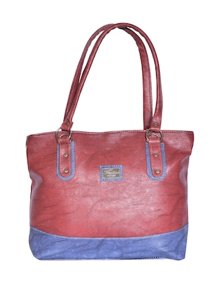 purple leatherette (pu) regular handbag - 15343452 - Standard Image - 1