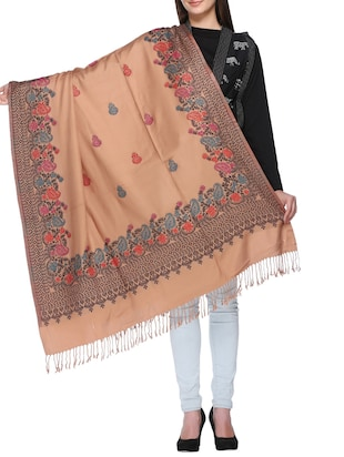 paisley embroidered shawl - 15345232 - Standard Image - 1