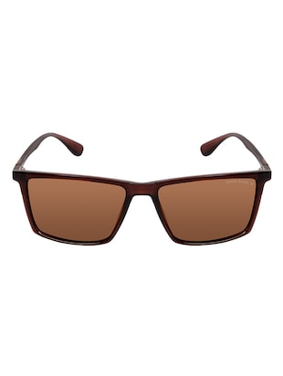 David Blake Brown Rectangular Polarised & UV Protected Sunglass - 15347017 - Standard Image - 1