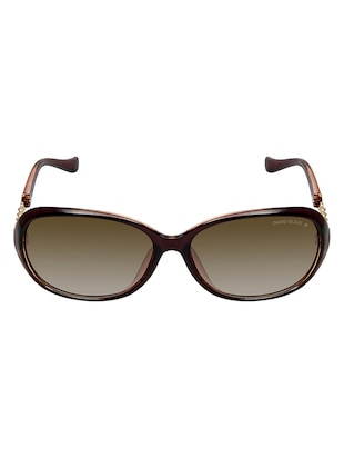 David Blake Brown Oval Gradient, UV Protected Sunglass - 15347047 - Standard Image - 1