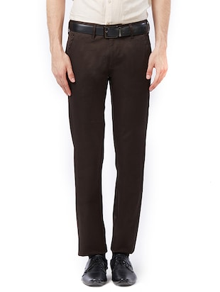 brown cotton chinos - 15347328 - Standard Image - 1