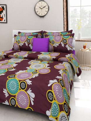 140 TC Cotton Double Bedsheet with 2 Pillow Covers - 15349154 - Standard Image - 1